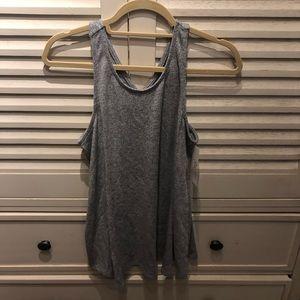 Gillian & O'Malley gray pajama top-M (NWT)